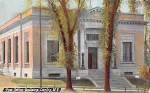 Corning New York~Post Office Fills the Whole Postcard~Trade Corn For Eggs 1911
