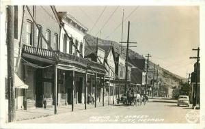 Along O Street Virginia City Nevada Autos 1940s RPPC Photo Postcard Frasher 3049