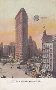 NEW YORK CITY,  00-10s; Flatiron Building; ADV; C.H.Co. Seal Shoes on back