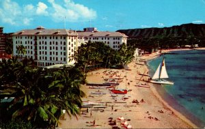 Hawaii Waikiki Beach Moana Hotel 1966