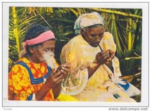 New Caledonia, Island of Pines: Melanesian women, 50-70s