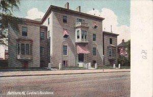 Maryland Baltmore Cardinals Residence 1907