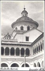 ecuador, QUITO, Iglesia de la Merced, Church 1940s RPPC