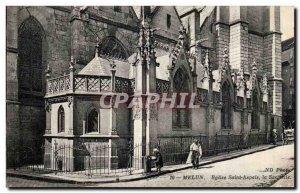 Melun - Church Saint Aspais - Old Postcard