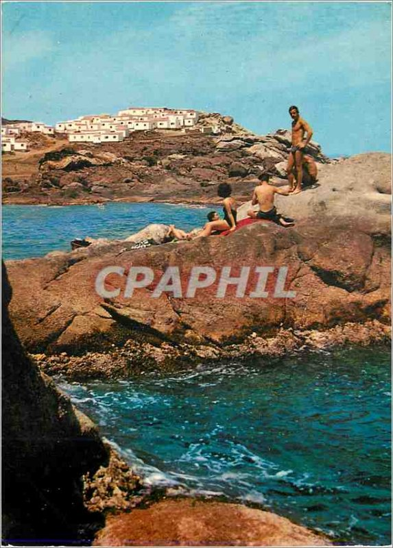 Modern Postcard Club Mediterranee Village Cadaques Gerona Spain