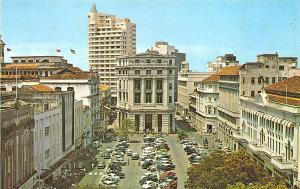Singapore China Raffles Place Old Cars Postcard
