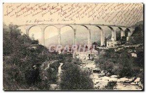 Old Postcard Nice Viaduct wolf