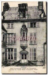 Troyes Old Postcard Hotel Juvenal street Orsini Champeaux