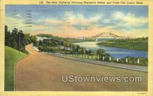 Cape Cod Canal Sagamore Bridge MA 1940