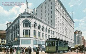 CA - San Francisco - Market Street, Roos Brothers and Phelan Building