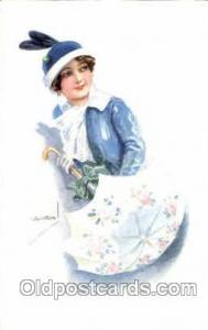 Artist Lottie Usaba (Italy) Postcard Post Card Serie 305/6 Artist Lottie Usab...