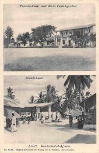 German East Africa Tanzania Lindi Markthalle Parade-Platz Kais. Post-Agentur