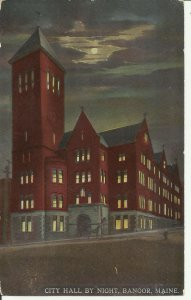 Bangor, Maine, City Hall by Night