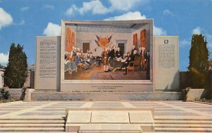 Cemetaries Cemetery Post Card Court of Freedom, Forest Lawn Memorial Park Gle...