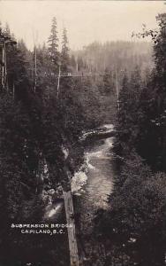 RP, Suspension Bridge, Capilano, British Columbia, Canada, 1920-1940s (2)