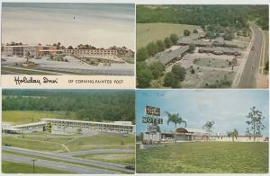 lot of 4 motel roadside America Postcards