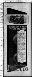 1924 Bakelite Dilecto Radio Vintage Print Ad 3997