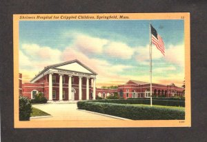 MA Shriners Hospital Children Springfield Massachusetts Mass Linen Postcard