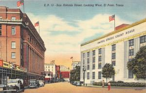 El Paso Texas~San Antonio Street~US Court House~Gateway Hotel~Sandoval News Pc