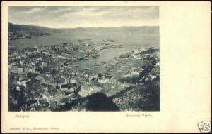 norway norge, BERGEN, General View (ca. 1899)