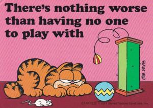 Humour Garfield There's Nothing Worse Than Having No One To PLay With