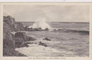 Maine Bar Harbor Surf On Ocean Drive Albertype