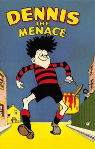 Postcard The Beano, Dennis The Menace Book 1956 Cover Art by David Law, Repro