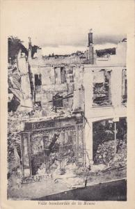 Ville Bombardee De La MEUSE, France, 1900-1910s