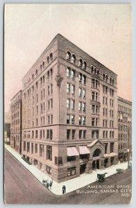 Kansas City Missouri~American Bank Building~Delaware Street~Razed 1956~1908