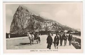 Rock of Gibraltar from Neutral Ground UK RPPC Real Photo postcard