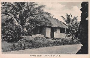 Native Hut, Trinidad, British West Indies, Early Postcard, Unused