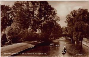 Garret Hostel Lane Bridge, Cambridge, England, Early Real Photo Postcard, Unused