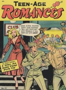 Teenage Romances Military Army Pick Up Girl 1950s Comic Postcard