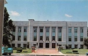 Covington Indiana~Fountain County Court House~US Marine & Navy Signs~60s Dodge