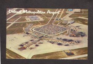 MI Detroit Metro Airport, Wayne Ct, Airplanes, Romulus, Michigan Postcard