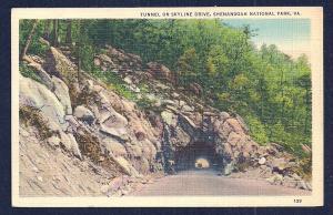 Skyline Drive Tunnel Shenandoah Nat'l Park VA used c1937
