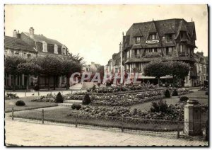 Old Postcard Deauville Fleurie Beach Place Morny