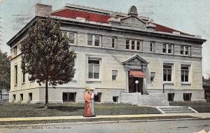 Huntington Indiana~Victorian Brightly Colored Fashion~Carnegie Free Library 1908