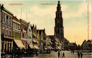 CPA GRONINGEN Groote markt N.Z. NETHERLANDS (604227)