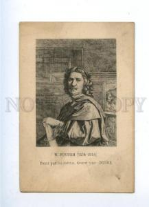 161595 Nicolas POUSSIN French painter by PESNE Vintage card