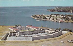 Bird's-eye view of Old Fort Henry, Royal Military College, Kingston, Ontario,...