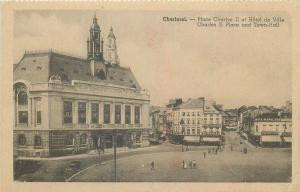 Belgium Charleroi Charles II Place and Town Hall