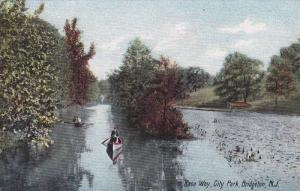 Row boat,  Race Way,  City Park,  Bridgeton,  New Jersey,  PU_1907