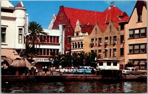 CURACAO Netherlands Antilles Postcard Typical Old Dutch Architecture c1960s