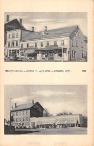 Danvers Massachusetts Perleys Corner Multiview Antique Postcard K19490