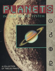 Planets In Our Solar System Set Of Trading Postcard Card Rare USA Set