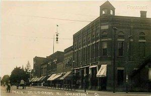 OH, Swanton, Ohio, Main Street, RPPC