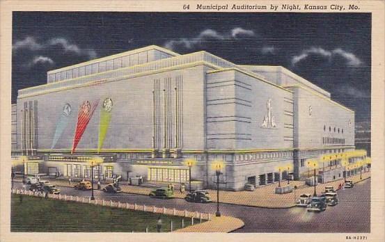 Municipal Auditorium By Night Kansas City Missouri