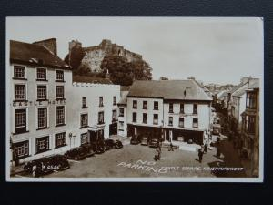 Pembrokeshire HAVERFORDWEST Castle Square c1948 Old RP Postcard by Valentine
