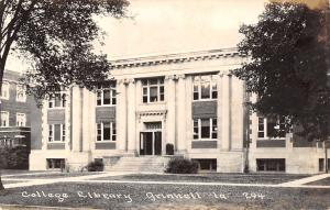 Grinnell Iowa~Grinnell College Library~1940s Real Photo Postcard~RPPC